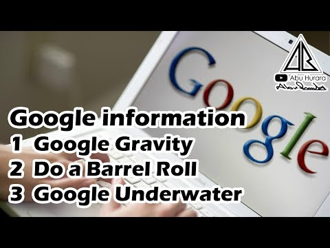 Google information [ Google Gravity / Do a Barrel Roll / Google Underwater ]