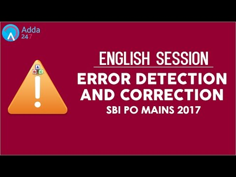 Error Detection And Correction for SBI PO Mains