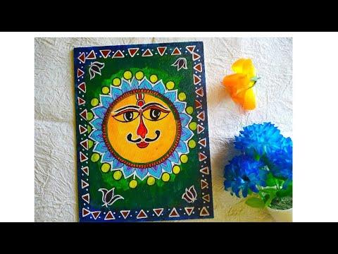 Simple Madhubani/mithila painting for beginners | Indian folk art #madhubani #indianfolkart