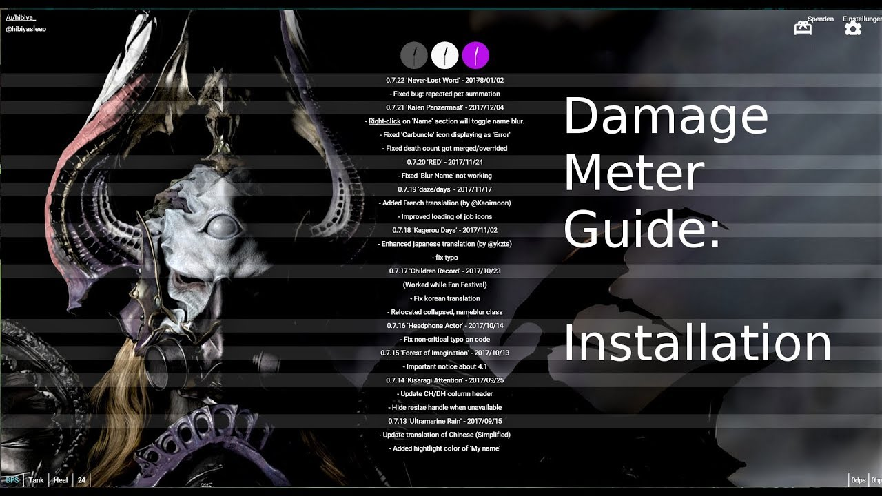 FFXIV - Damage Meter/Parser Guide (Advanced Combat Tracker)