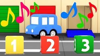 Cartoni animati per bambini: Macchinine colorate - Canzoni dei Colori e Numeri