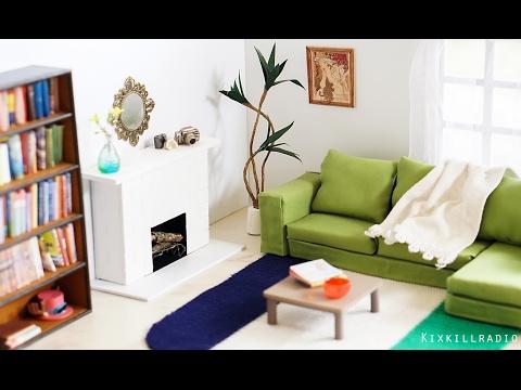 DIY Dollhouse Miniature Living Room Tutorial | Dolls, Nendoroid