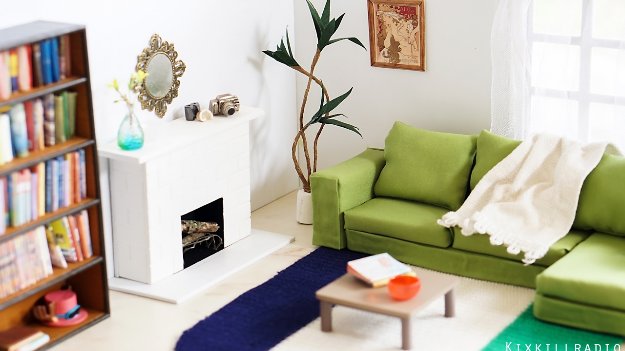 Diy Living Room Storage Shelves Dollhouse Miniature Tutorial Dolls Nendoroid Youtube Premium