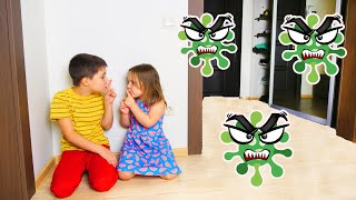 Ed and Olivia Children story about Viruses История про вирусы