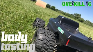 Ramping the 4s LiPo Stampede 4x4 & Testing the New Unbreakable Body | Overkill RC