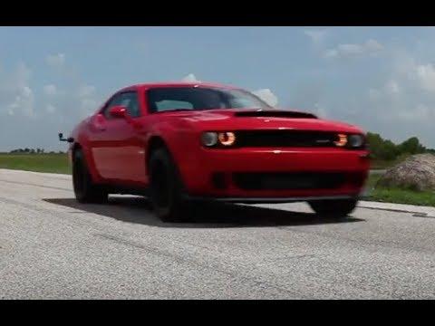 2018 Dodge Demon >> Hennessey 1000 HP Dodge Demon in Action - YouTube
