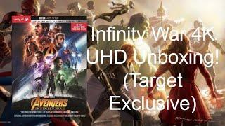 Avengers Infinity War 4K UHD/Blu-Ray Unboxing! (Target Exclusive!)