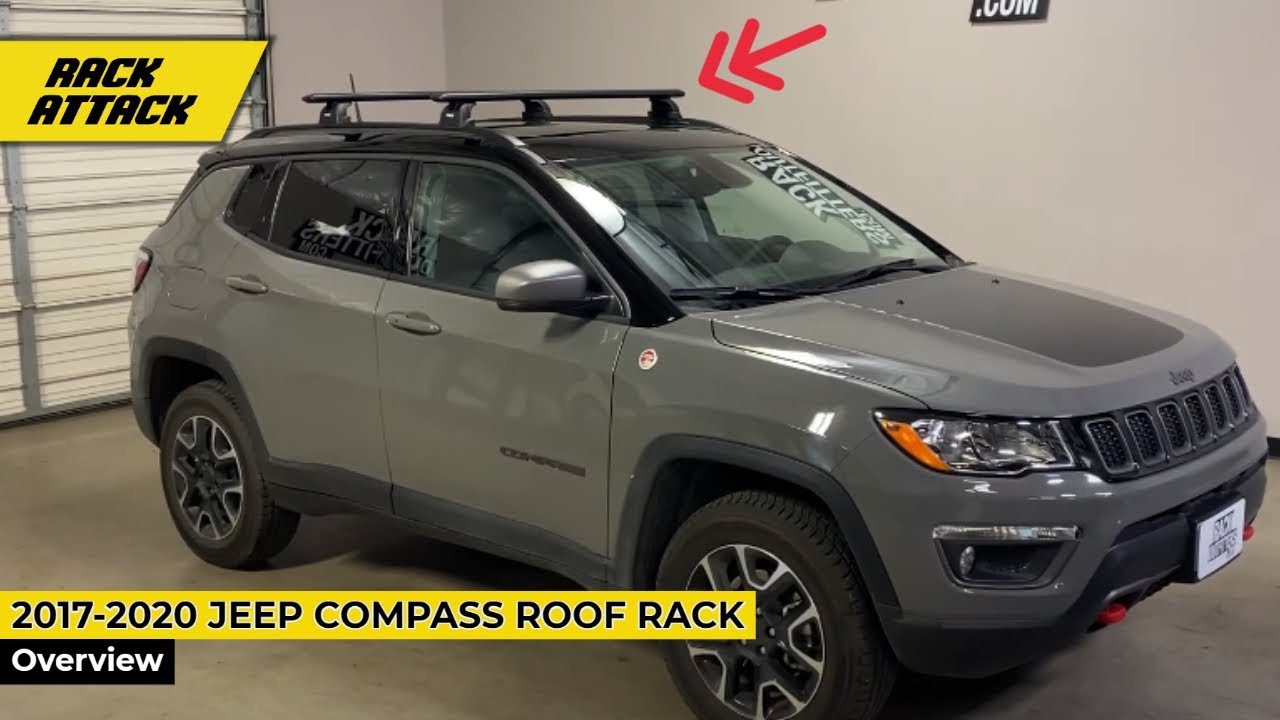 jeep all new compass with thule rapid podium wingbar evo roof rack crossbars