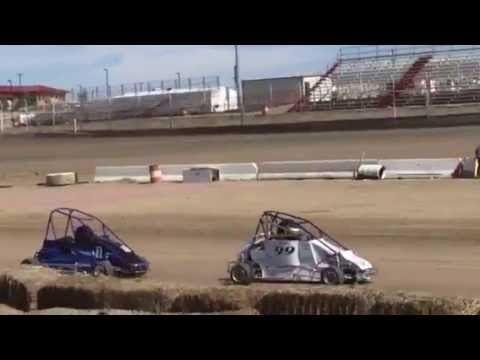 Cassidy Hinds Quarter Midget Racing at Aztec Speedway Dirt Track, July 4, 2015