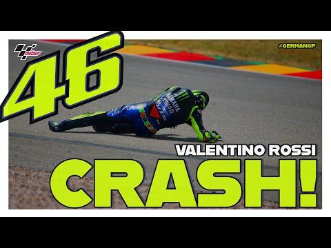 Valentino Rossi crashes during Q1   MotoGP™#GermanGP 2019