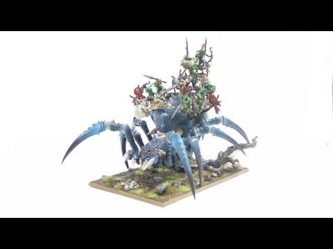 How to paint the Arachnarok (Orcs and Goblins