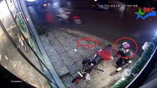 Trôm xe máy tia chớp qua nhanh | Chia sẻ mọi người cảnh giác bảo vệ tài sản