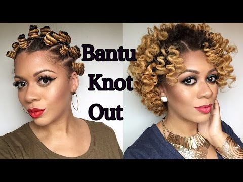 The Perfect No Heat Bantu Knot Out On Natural Hair Youtube