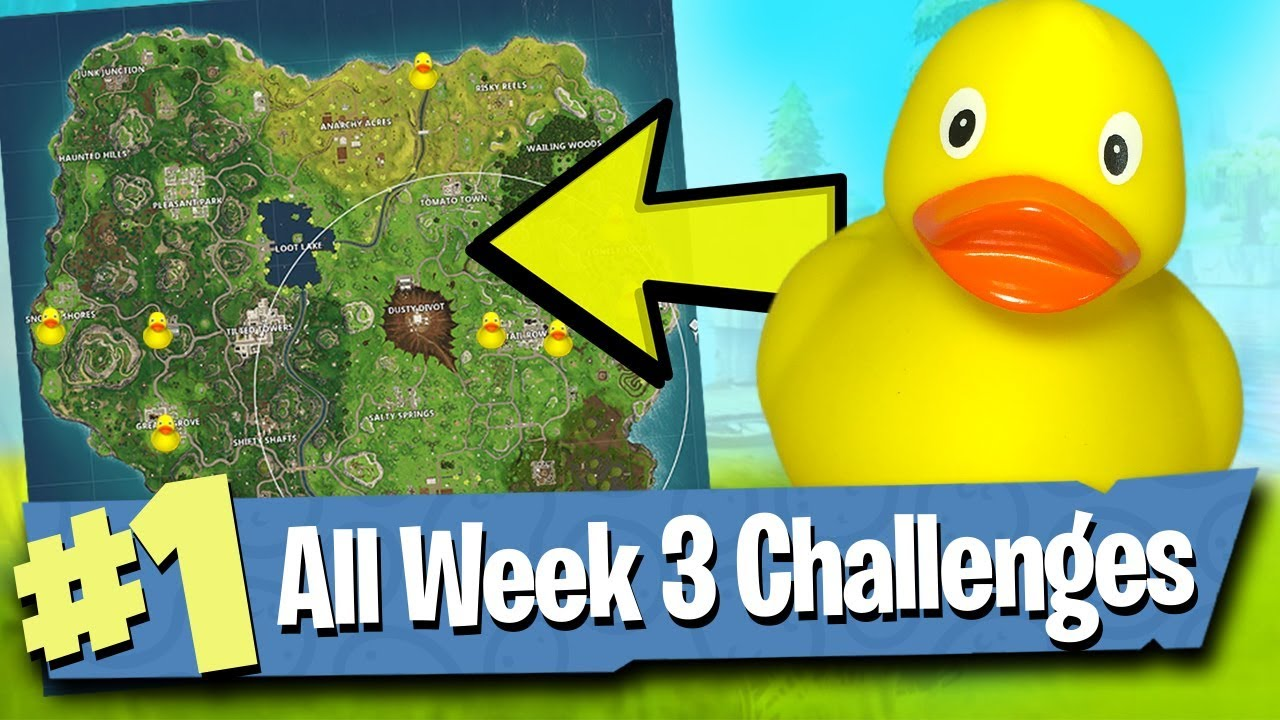 Fortnite Week 3 Challenges Guide Search Rubber Duckies