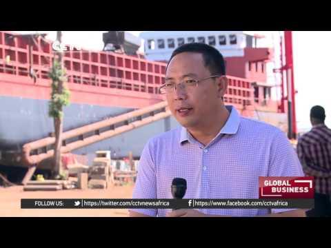 China assembling a ship in Uganda