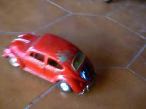 KO Japan Tin Toy VW Volkswagen Beetle Battery-Operated