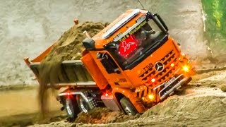 Fantastic detailed RC trucks and excavators work hard!