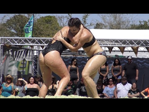 Women Wrestling in Coleslaw For $1000 | Daytona Bike Week