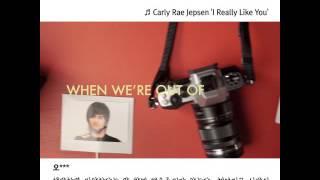 칼리 래 젭슨 - I Really Like You 댓글버전 리릭 비디오