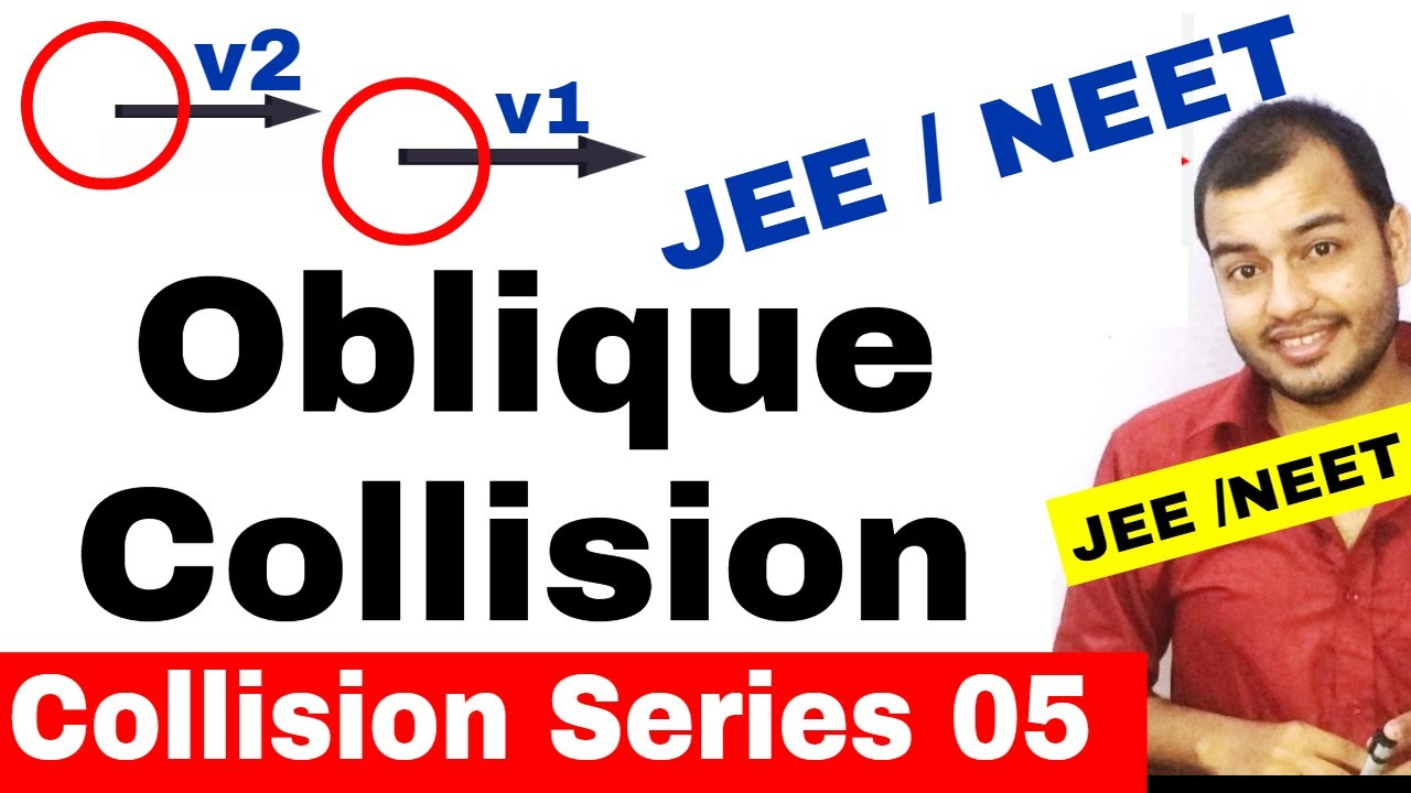 Centre Of Mass 11 Collision Series 05 Oblique Collision