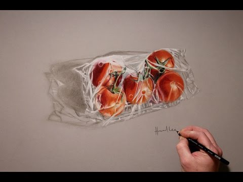 Drawing Time Lapse: Packed Tomatoes by Howard Lee