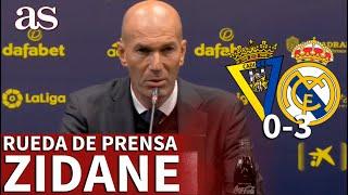CÁDIZ 0- REAL MADRID 3 | Rueda de prensa ZIDANE: