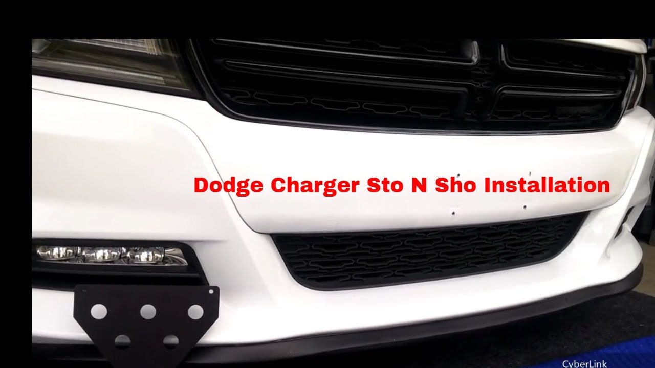 Dodge Charger Sto N Sho / Bumper Plug Install - YouTube