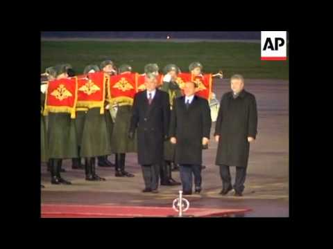 Russia: Berlusconi arrives for visit