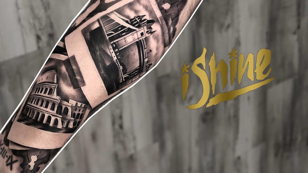 Tattoo Highlight - travel polaroid action! black and grey ...