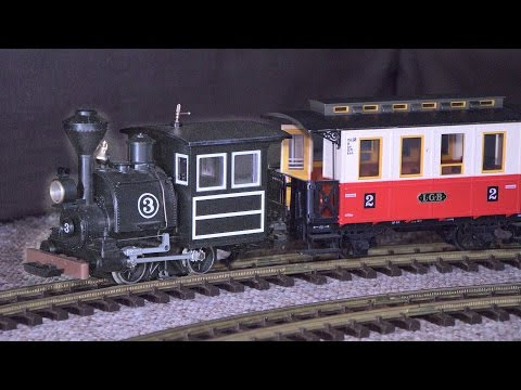 Little G-Scale Locomotive with really BIG steam train sounds!