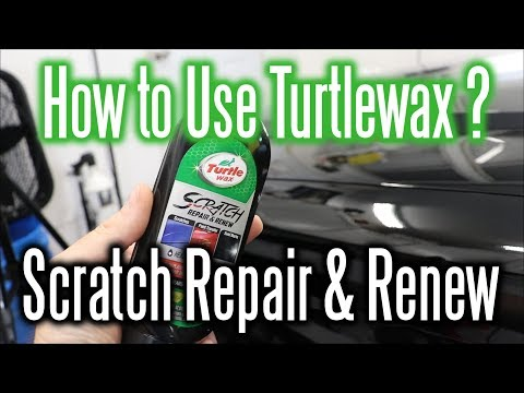 How To Use Turtle Wax Scratch Repair And Renew