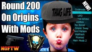 Black Ops 2 Zombies ORIGINS ROUND 200 MOD MENU TROLLING! (ROUND SKIP GLITCH TROLL!) XBOX ONE!