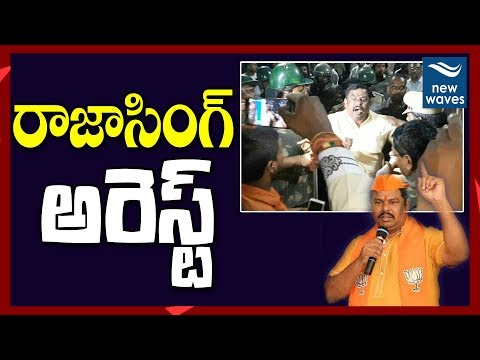 Goshamahal Mla Raja Singh Arrest In Amberpet | Bjp Vs Mim | Latest Telugu News | New Waves