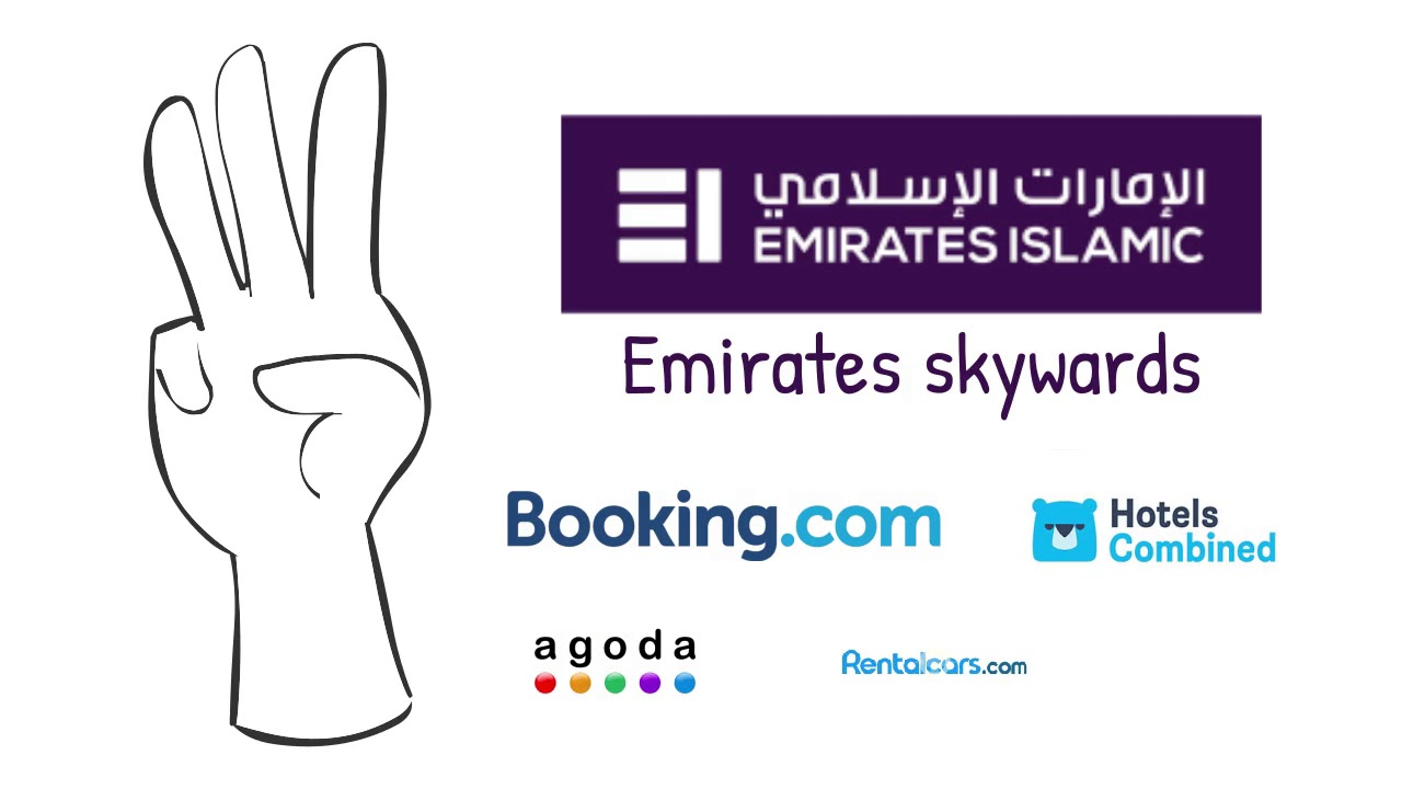 Earn 3 Emirates  skywards Miles with booking.com souq.com agoda and hotels combined