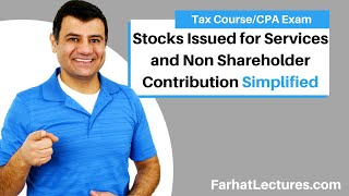 Stocks Issued for Services and Non Shareholder Contribution| Corporate Income Tax | CPA REG |Ch18 P4