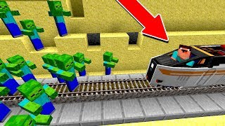 ZUMBIS INVADEM O TREM DO NOOB!! (MINECRAFT)