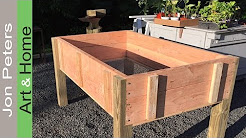 Build a Stand Up Planter Box - limited tools project