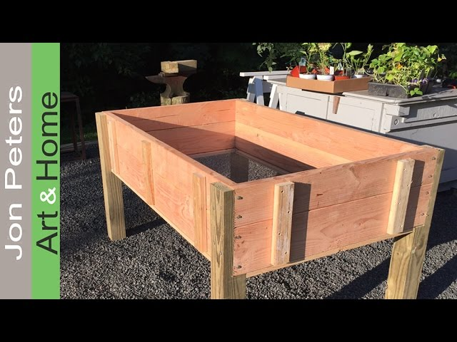 Build A Stand Up Planter Box Limited, How To Build A Raised Garden Bed With Legs Pdf