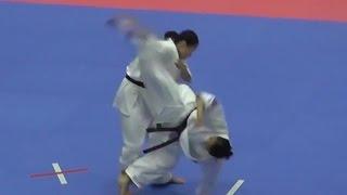 807田崎佑麻(広島県支部)VS810太田菜月(総本部) http://kyokushin-shiga...