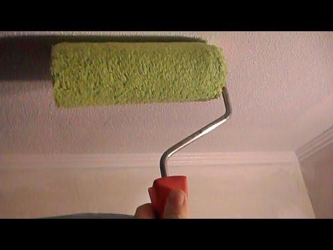 видео: █ Как покрасить обои, потолочный плинтус (потолок, откос).