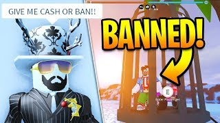 GIVE ASIMO3089 CASH OR GET BANNED!!! Playing Jailbreak As ASIMO! | Roblox Jailbreak Winter Update