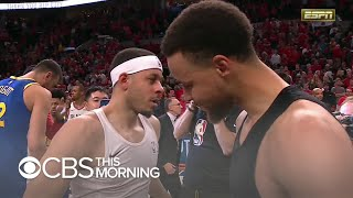 A house divided: Steph and Seth Curry battle at NBA playoffs