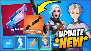 Everything NEW in FORTNITE v15.20 (New Lever Action Shotgun, Free Skin Styles, New Emote!)