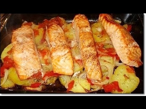 как запечь семгу с картошкой в духовке