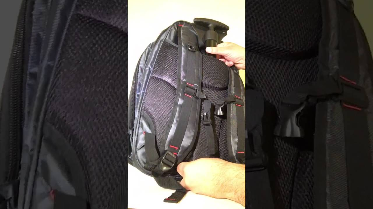 0d9c414a4f How to Add Wheels to Backpack - YouTube