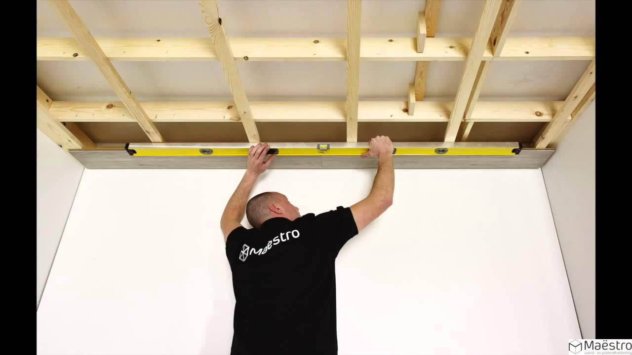 Spiegelkast Badkamer Hoog ~ Plaatsing van een plafond met Maestro plafondpanelen NL  YouTube