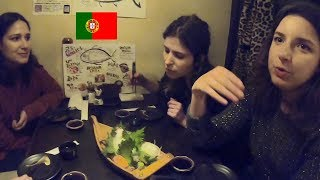 ポルトガル人が刺身、焼き鳥、肉寿司を味わい尽くす!/ Portuguese eat Sashimi Tuna, Grilled chickens