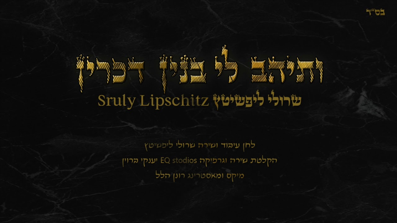 Sruly Lipschitz - Vesaihav Li - NEW Single | ותיהב לי - שרולי ליפשיטץ