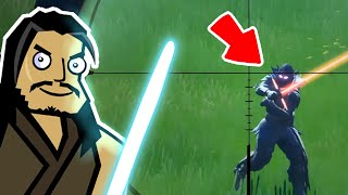 LIGHTSABERS AND SNIPERS: CHAPTER 2!! | Roach Plays Fortnite (The Squad)