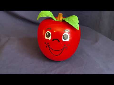 Vintage Fisher Price Happy Apple Toy/Bell